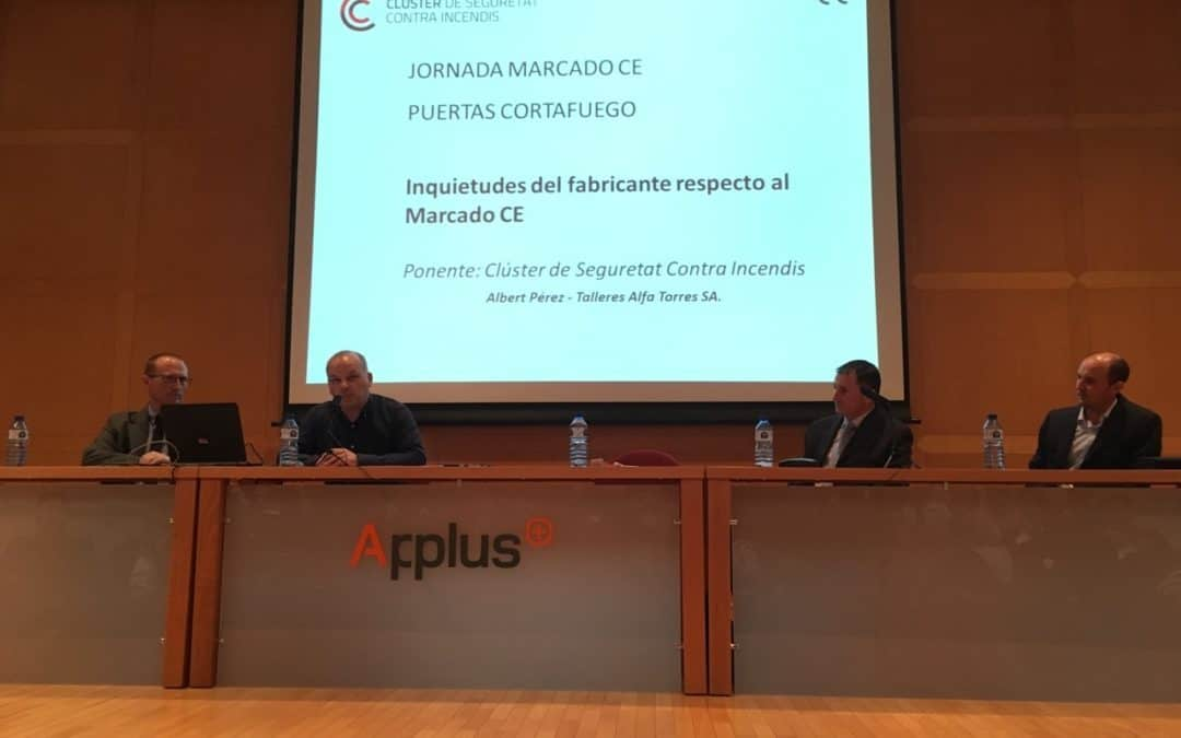 Albert Pérez a la Jornada de marcatge CE d'APPLUS
