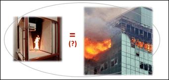 Incendios. Propagación del fuego por fachada. Ensayos a gran escala.