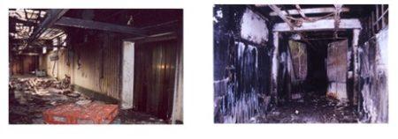 Vies d'evacuació, afectades per incendis, en indústries diverses