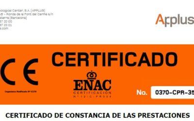 Marcatge CE  per a Portes Tallafocs. Entrada en vigor inmmediata