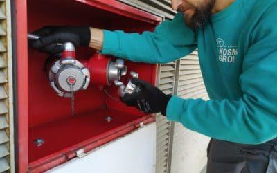 La columna seca sistema de PCI vital para salvar vidas
